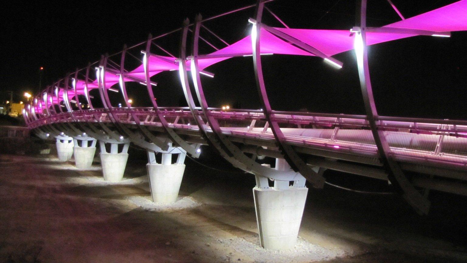גשר הצינורות נחל באר שבע